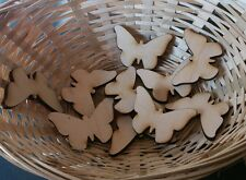 10 x wooden butterfly embellishment craft blanks