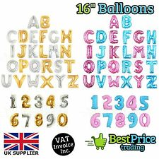 "Gold & Silver 16"" Alphabet Letter Number A-Z Foil Balloons *NAME PARTY WEDDING"