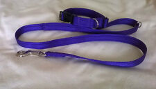 19mm soft  cushion webbing  puppy small TO MED dog lead and collar 13 to 18inch