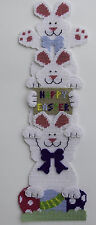Easter Bunny Stack Wall Hanging-Happy Easter-Plastic Canvas Pattern or Kit