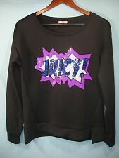 "NWT Juicy Couture Black Women's Top Blue "" Juicy "" in Stitched Sequins"