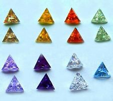 5x5 mm Triangle Cubic Zirconia  Colored Stones  1 piece - assorted colors
