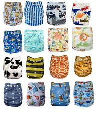 NEW REUSABLE MODERN BABY CLOTH NAPPIES & INSERTS ALL SIZE DIAPERS