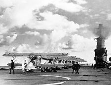 1941 HMS Ark Royal Aircraft Carrier w/ Planes Photo