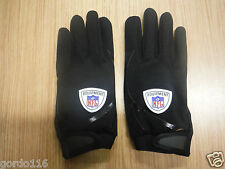 Saranac NFL Equipment Adult Medium Football black Gloves Authentic Dallas Cowboy