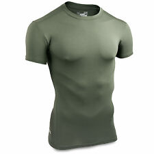 Under Armour Tactical Military Heatgear Compression T-Shirt Base Layer OD Green