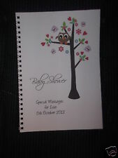CHRISTENING / BABY SHOWER / NEW BABY GUEST BOOK - BABY OWL 1