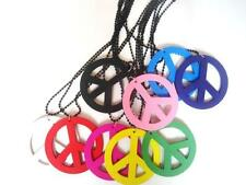 1pc Hippie Peace Sign Pendant Charm Beaded Chain Sweater Necklace Christmas Gift