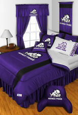 TEXAS CHRISTIAN HORNED FROGS (TCU) COMFORTER AND SHEET SET - 19-3168-combo