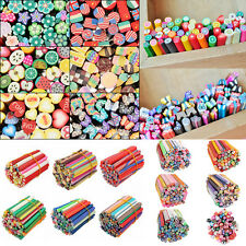 7 Styles 50pcs 3D Nail Art Tips Stickers Fimo Canes Stick Rods Polymer Clay Deco