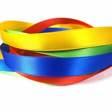 """13mm (1/2"""") Satin Ribbon Large Rolls - 30 Colours Double Sided Reels 12mm"""