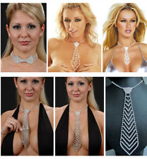 Sexy Womens Deluxe Rhinestone Bow tie Necktie Jewelry Accessory Choker Necklace