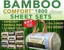 BAMBoo Hotel COMFORT Bed Sheet Set (1800 series) Queen & King assorted colors