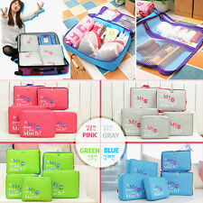 5 In 1 Waterproof Clothes Storage Bags Packing Cube Travel Luggage Organizer Bag