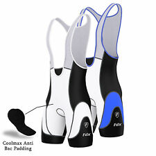 FDX Mens Pro Cycling Bib Shorts Coolmax® Padding Outdoor Cycle Gear Pants Shorts