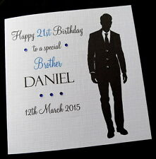 "Large 8""sq Personalised Birthday Card Dad Brother Son Husband Uncle Grandson ANY"