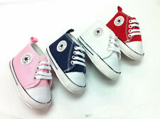 BABY ALL STAR SHOES PINK/BLUE 0-6, 6-12, 12-18 MONTHS SIZE 2,3,4 LIKE CONVERSE