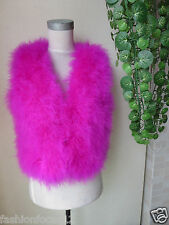 /Free shipping/real ostrich feather fur vest/jacket/S-M-L/dark pink