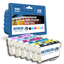 REMANUFACTURED (NON GENUINE) T0807 6 INK CARTRIDGE PACK FOR EPSON STYLUS PRINTER