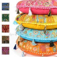 """LARGE SELECTION of 22"""" ROUND FLOOR PILLOW CUSHION COVER Yoga Seating Tapestry"""