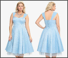 TORRID Disney CINDERELLA Movie Blue DRESS Corset BALL GOWN - All Plus Sizes