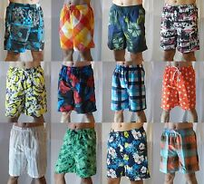 Men Boardshort Boardies Swim Trunks Surf Beach Board Elastic Waist Casual Shorts