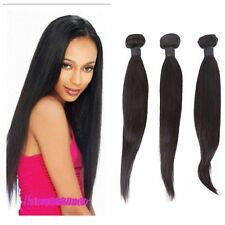 100% Weft Brazilian Bundle Remy Human Hair Straight Weave Extensions 50g/Bundle
