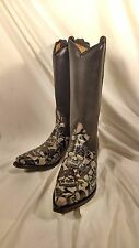 Liberty Boots NEW 42 Muertos X-Ray Natural Leather Cowboy Boot Size 10-D 10.5-D