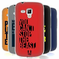 HEAD CASE POWER STATEMENT SILICONE GEL CASE FOR SAMSUNG GALAXY S DUOS S7562