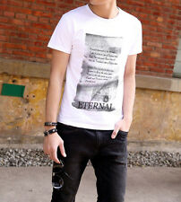 New Casual Sports Mens T-shirts Crew Neck Slim Fit Graphic Short Sleeve Top Tee