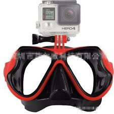Swimming Goggles Diving Snorkeling Scuba Face Mask+Camera Mount for Gopro 3/3+/4