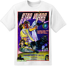 Star Wars A New Hope - Retro Artwork Movie Poster T Shirt (S-3XL) Jedi Vader DVD