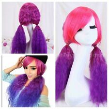 Long Full Wigs Lolita Curly Wavy Purple /Blue /Orange Harajuku Cosplay Party wig