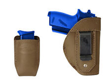 New Barsony Olive Drab IWB Holster + Mag Pouch Walther SIG-Sauer Mini 22 25 380