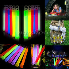 """1/5/10pcs 6"""" Glow Sticks Party Necklaces Light Assorted Lanyard Favors Neon Rave"""