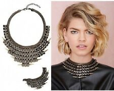 Fashion Jewelry Feather Choker Chunky Statement Bib Collar Necklace Chain