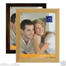 WOODEN PHOTO FRAME OAK BROWN WOOD HOME OFFICE DECORATION LOW PRICE NEW QUALITY