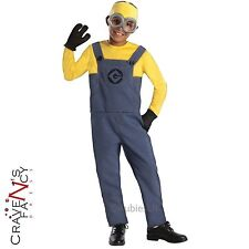 Licensed Dave Minion Kids Despicable Me Halloween Fancy Dress Costume Boys Girls