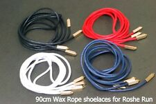 90 cm Waxed Rope Shoe laces + Metal Tips fit for Roshe Run yeezy