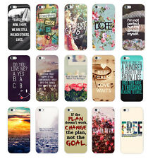 Quote & Saying Painted Pattern Hard Back Case Cover Skin For Apple Iphone 5 5S