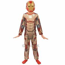 Iron Man Fancy Dress Costume Playsuit Red