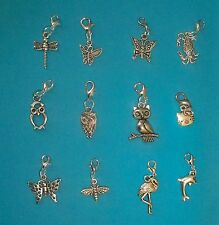 Living Locket Floating Charms Dangles Clips Butterfly Music Sports Christmas
