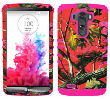 Pink Mossy Tree Hunter Camouflage Camo Protector Cover Case for LG Optimus G3
