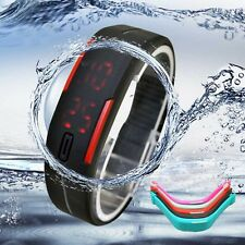 Ultra Thin Silicone Men Watches Sports Digital LED Bracelet Watch GIFT For DAD