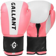 Gallant Ladies Pink Boxing Gloves Gel Sparring Punch Bag Mitts Pads Kick MMA