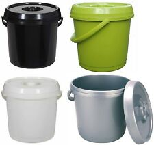 14L PLASTIC NAPPY BUCKET WITH LID AND HANDLE 3 GALLON BABY BIN STORAGE CONTAINER