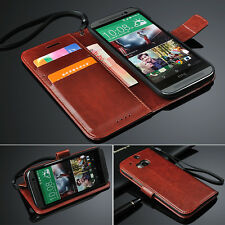 For HTC One M8 PU Leather Wallet Magnetic Flip Skin Card holder Case Stand Cover