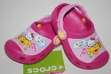 NWT CROCS KIDS HELLO KITTY PLANE CLOGS FUCHSIA PINK 6/7 8/9 10/11 12/13 shoes