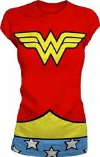 DC Comics Wonder Woman Logo Costume Red Juniors T-Shirt