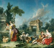 "Francois Boucher : ""The Fountain of Love"" (1748) — Giclee Fine Art Print"